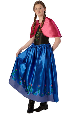 Anna Frozen Disney Princess Girls Fancy Dress Costume
