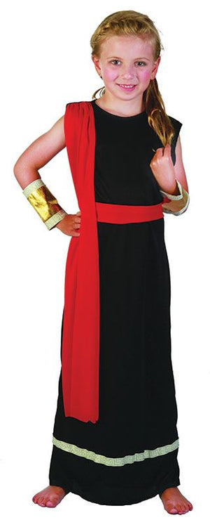 Roman Girl Black Costume