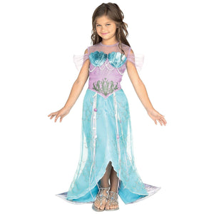 Girls Mermaid Princess Fancy Dress Costume