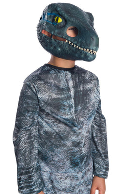 Velociraptor Blue Mask Movable Jaw