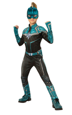Captain Marvel Kree Deluxe Girls Costume