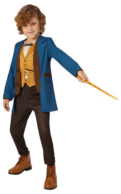Newt Scamander Boy's Deluxe Fancy Dress Costume