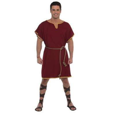 Burgundy Tunic Men's Fancy Dress Costume