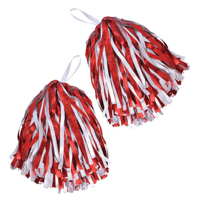 Pom Poms. Red/White