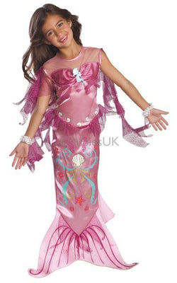 Girls Pink Mermaid Fancy Dress Costume