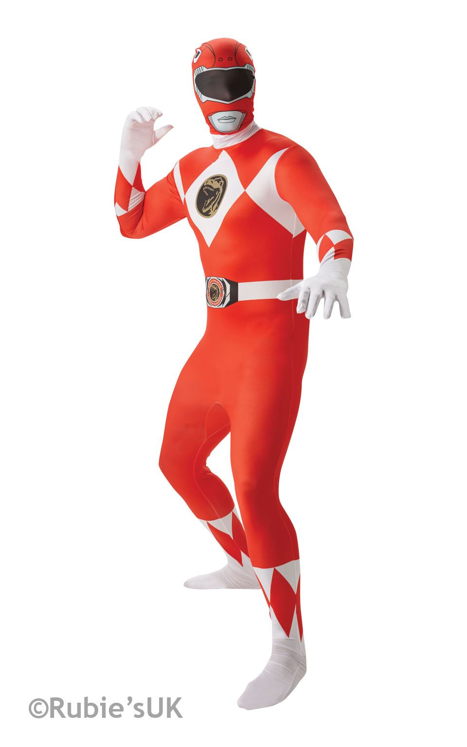 Red Power Ranger 2nd Skin Fancy Dress Costume
