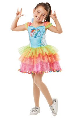Rainbow Dash My little Pony Girl's Fancy Dress Costume