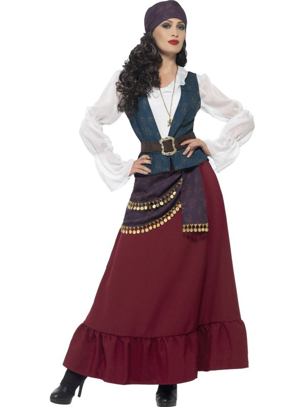 Women's Pirate Buccaneer Beauty Fancy Dress Costume
