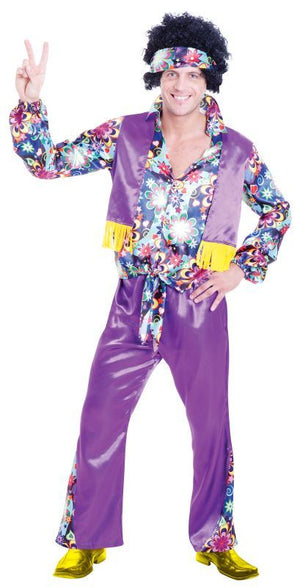 Men's 70s Groovy Guy Fancy Dress Costume