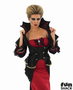 Women's Vampiress Fancy Dress Costume