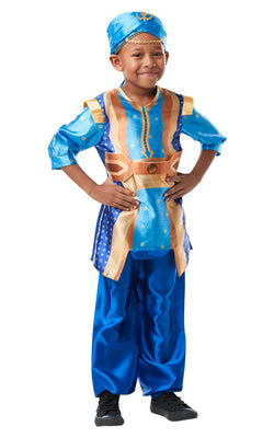 Genie Aladdin Disney Boys Fancy Dress Costume Licensed Outfit
