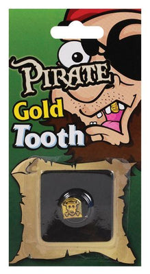 Pirate Skull Tooth Cap Gold