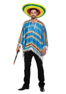 Adult Poncho Blue