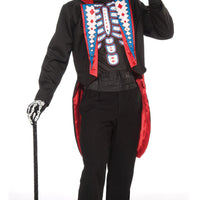 Mens Day of the Dead Tail Suit Fancy Dress Costume