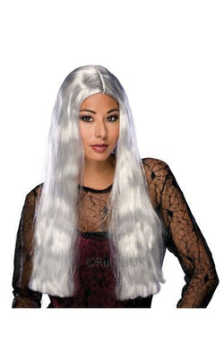 24inch Witch Fancy Dress Wig Grey