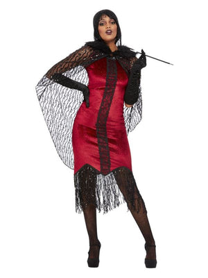 Deluxe Vampire Flapper Costume, Red