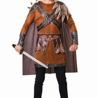 Medieval Warrior Man Brown