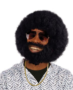 Black Afro and  Facial Hair