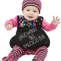 Brewing In Process Witch Babygrow, Purple