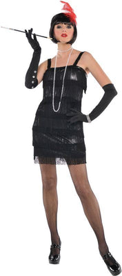 Flashy Flapper Fancy Dress Costume