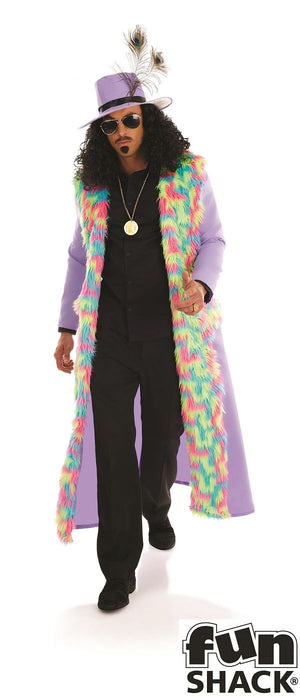 1970's Pimp Men's Fancy Dress Costume