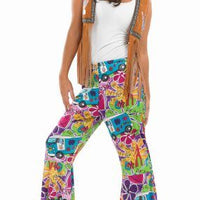 Hippie Patterened Flares Women's Fancy Dress