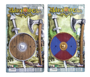 Viking Sword, Shield + Axe Set