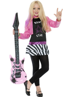 Girls Rockstar Glam Fancy Dress Costume