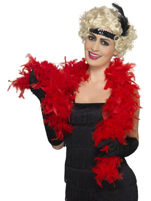 Bargain Feather Boa Red