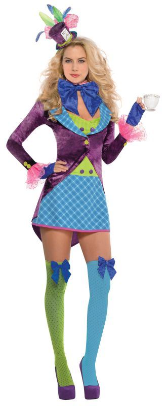 Ladies Mad Hatter Fancy Dress Costume