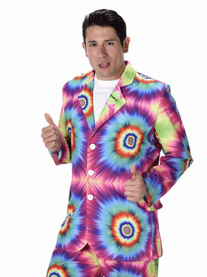 Tie Dye Suit Men's Fancy Dress Costume