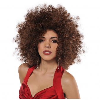 70s Disco Fever Brown Runway Afro Wig
