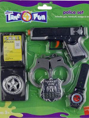 Toy Police Set with Gun