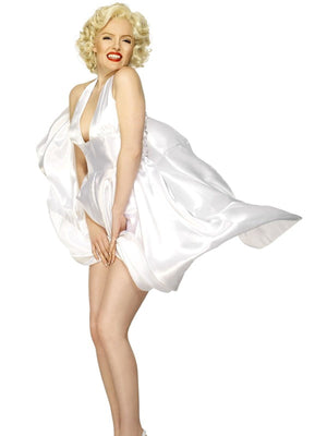 Marilyn Monroe Classic Halterneck Dress Fancy Dress Costume