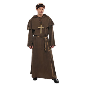 Mens Friar Fancy Dress Costume