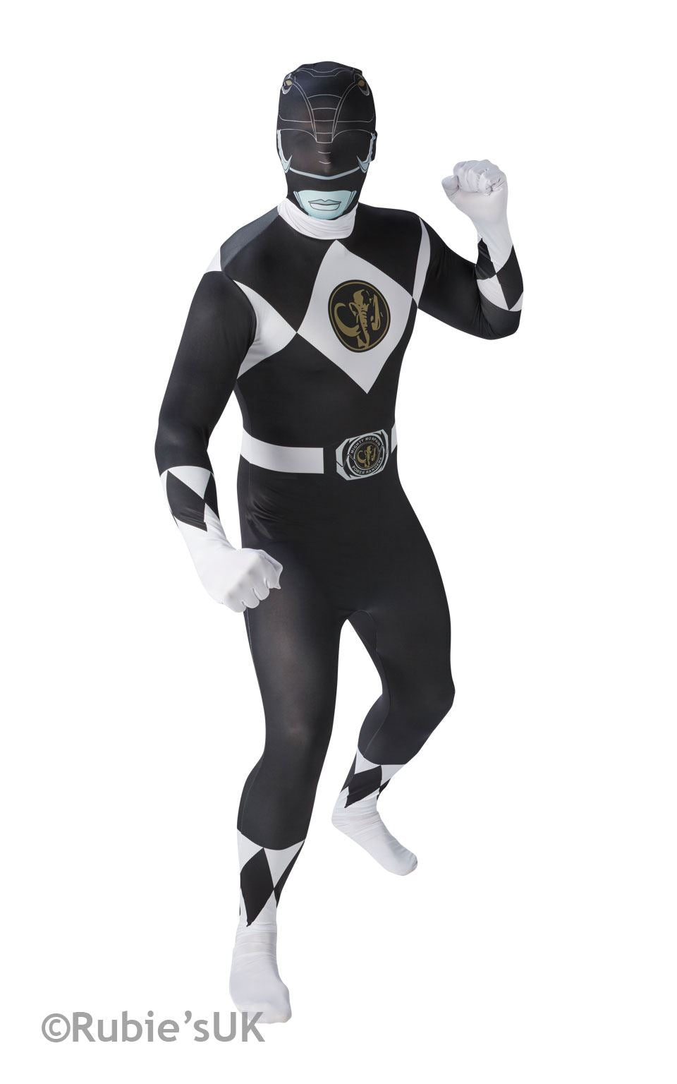 Power Ranger Black Ranger 2nd Skin Fancy Dress Costume