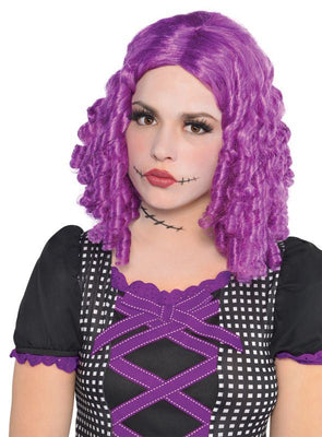 Womens Purple Doll Wig