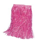 Grass Skirt. Pink, Adult 55cm