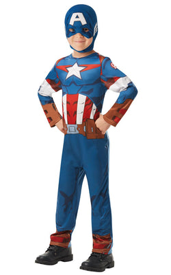Captain America Marvel Boy's Fancy Dress Costume