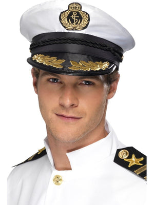 Deluxe Captain Fancy Dress Hat