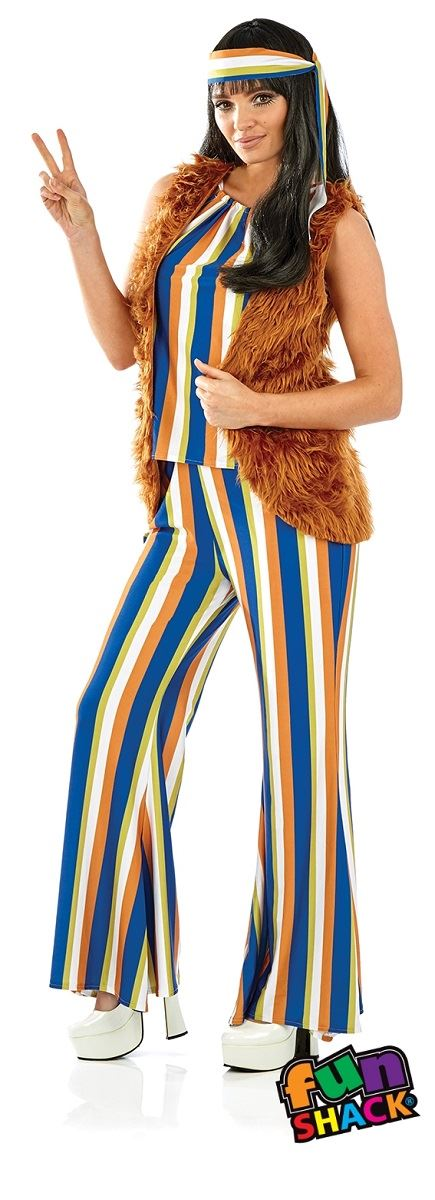 60'S Hippie Singer Women's Fancy Dress Costume
