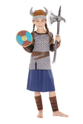 Viking Warrior Girl Costume