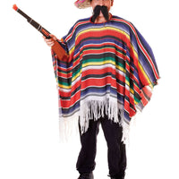 Mexican Poncho Fancy Dress Costume