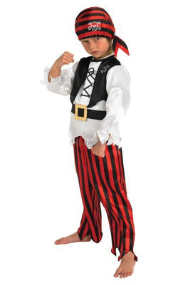 Boys Raggy Pirate Fancy Dress Costume