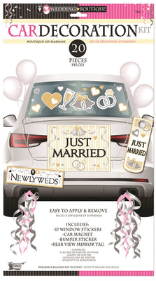 Bride & Groom Car Decoration Kit