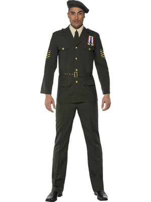 Male Wartime Officer Fancy Dress Costume