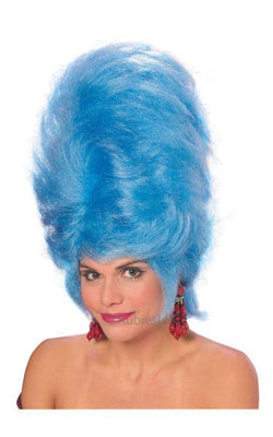 BeeHive Fancy Dress Wig Blue