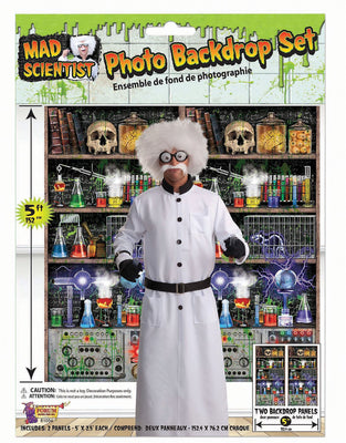Mad Scientist Lab Back Drop