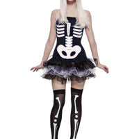 Fever Skeleton Fancy Dress Costume