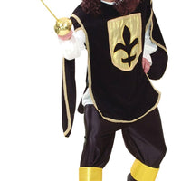 Adults Black Musketeer costume